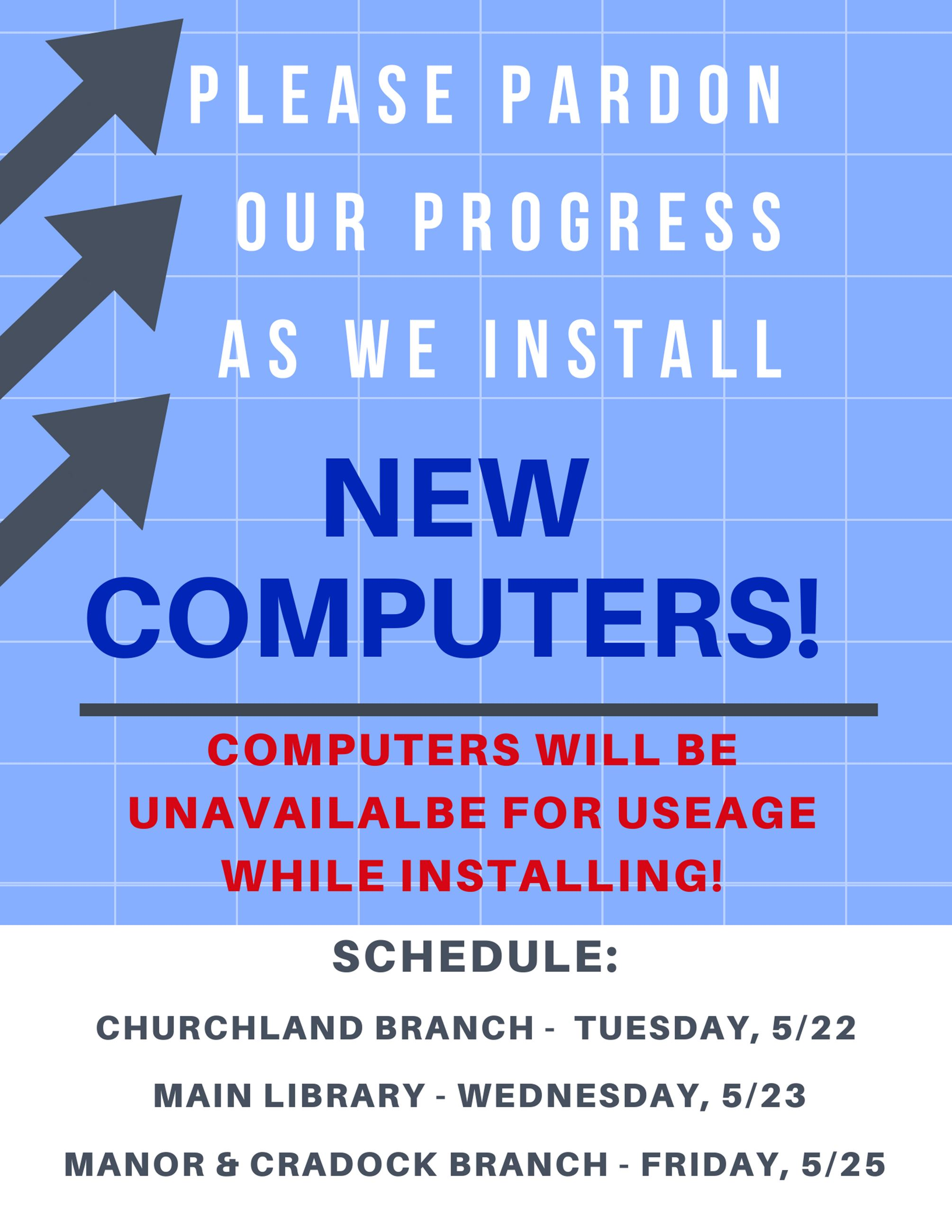 New Computer Signage